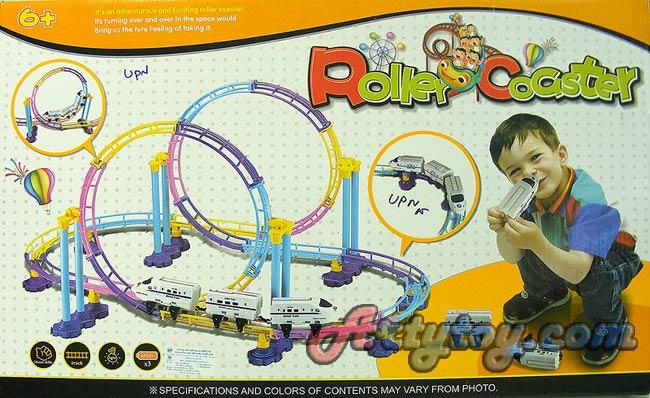 ชุดรถไฟเหาะตีลังกาใหม่ Roller Coster2 (UPN) มีไฟเวลาเล่น