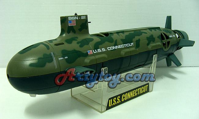 เรือดำน้ำบังคับวิทยุ U.S.S. Seawolf  สวยสมจริง สามารถเล่นในสระน้ำได้