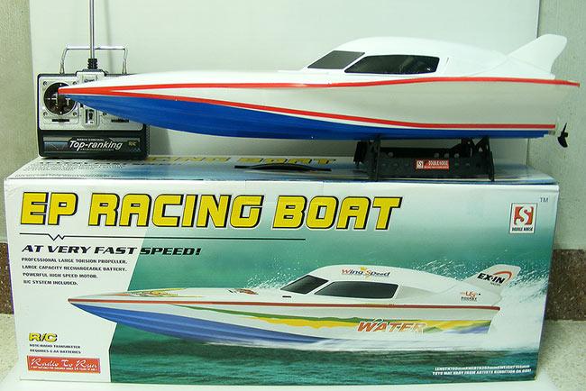เรือบังคับวิทยุรุ่นยอดนิยม EP Racing Boat สปีดโบ๊ท 2 ใบพัด แรงเร็วอะไหล่เยอะ