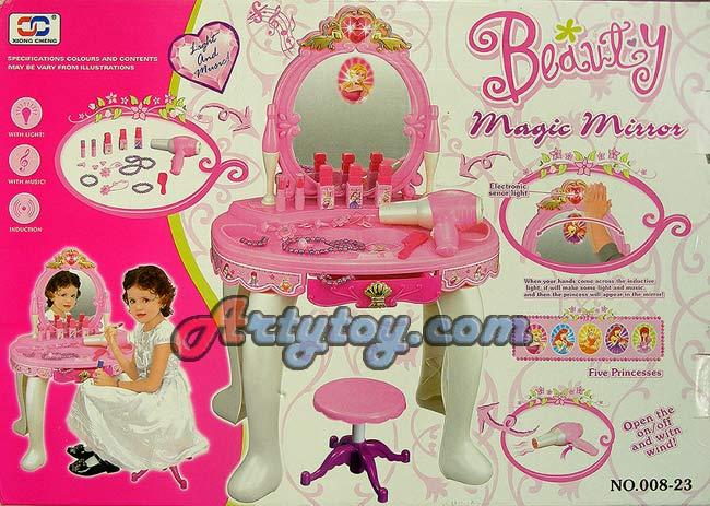 โต๊ะเครื่องแป้งเจ้าหญิงพร้อมกระจกวิเศษ Beauty Magic Mirror(ENB)