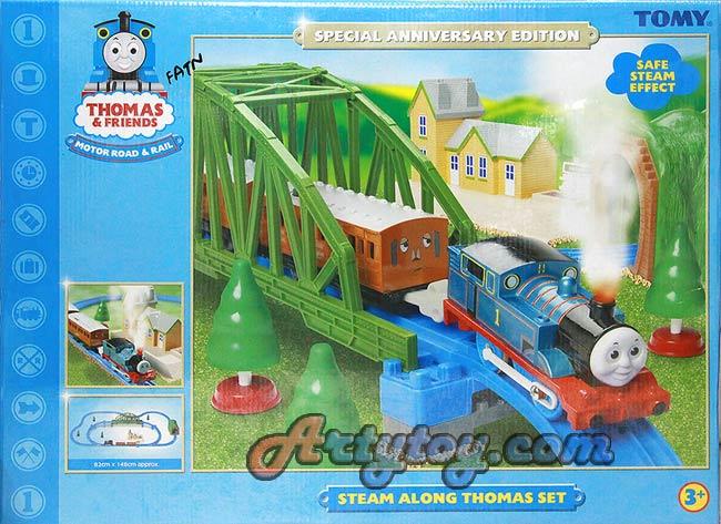 ชุดรถไฟ ThomasFriend ชุด Steam Along Thomas Set (FATN)  มีควันที่ปล่องเวลาเล่นเหมือนจริง