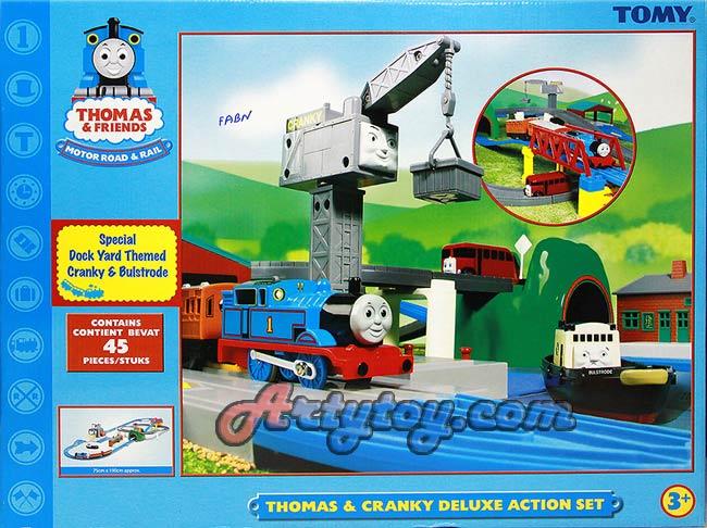 ชุดรถไฟ ThomasFriend ชุด Thomas  Cranky Deluxe Action Set (FABN)