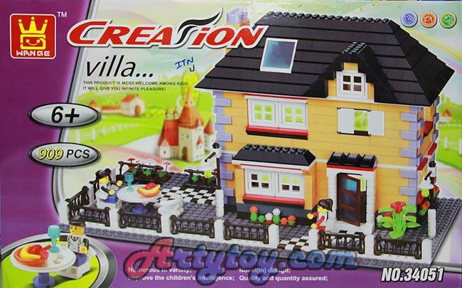 ตัวต่อค่าย Creation ชุด Villa หมู่บ้านหรรษาแสนสนุก No.34051(ITN)