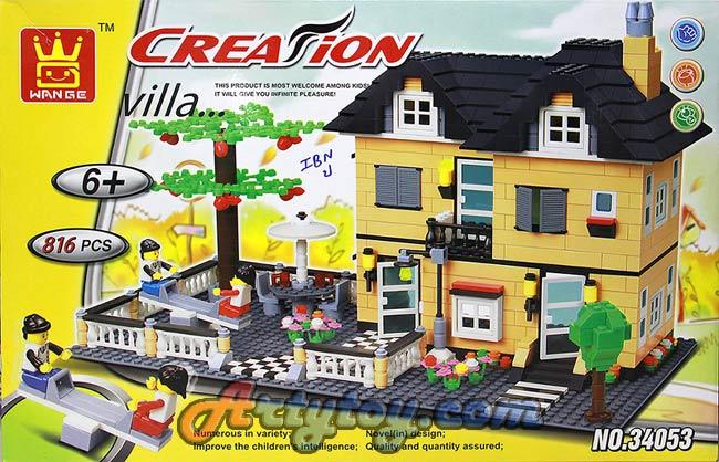 ตัวต่อค่าย Creation ชุด Villa หมู่บ้านหรรษาแสนสนุก No.34053(INB)