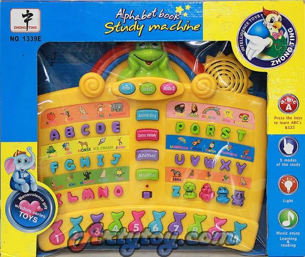 Alphabet Book Study Machine มีเสียงตัวอักษรภาษาอังกฤษ และดนตรี (FLT)