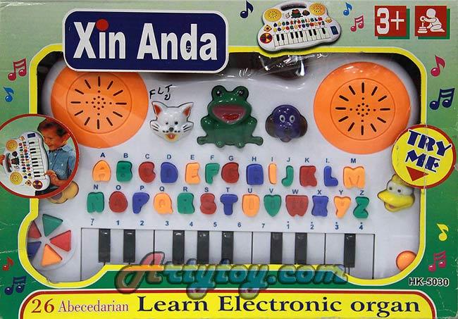 Learning Electronic Organ มีเสียงตัวอักษรภาษาอังกฤษ ดนตรี และเสียงสัตว์(FLT)