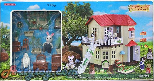 บ้านตุ๊กตาหรรษา Happy Family (ZTAN) ชุด บ้านแสนสุข 2 ชั้น
