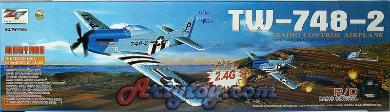 เครื่องบินบังคับ 4CH EPO 2.4GHz Mustang P-51  TW-748-2 (UTBN)