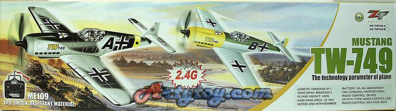 เครื่องบินบังคับ 4CH EPO 2.4GHz Mustang ME-109  TW-749 (UTBN)
