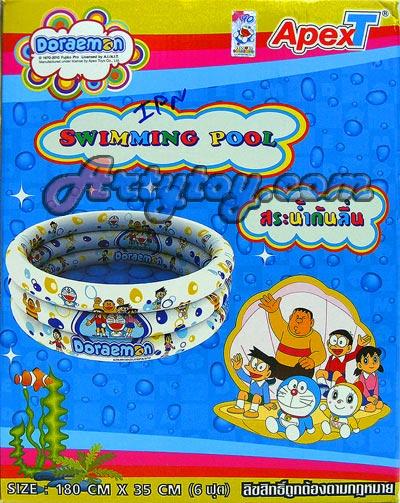 สระน้ำเป่าลม Doraemon ขนาด 6 ฟุต(IPN) มีพื้นกันลื่น สินค้าลิขสิทธิ์แท้จาก Apex Toy