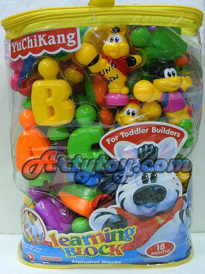 Learning Block (UNB)บล๊อกตัวต่อสำหรับเด็ก ฝึกตัวอักษรภาษาอังกฤษ พร้อมตัวการ์ตูนน่ารัก สามารถเขย่าได้