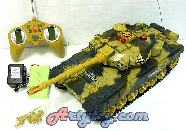 รถถังบังคับวิทยุ War Tank(IFN)เล่นสนุกเหมือนจริงมีเสียงเครื่องยนต์ เล่นสู้กันได้ 2 คัน
