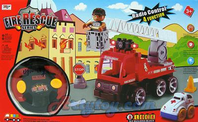 Fire Rescue Series(UPN) ปฏิวัติตัวต่อรูปแบบใหม่ สามารถบังคับวิทยุได้ ชุดหน่วยดับเพลิง
