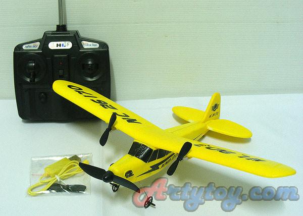 เครื่องบินบังคับ Piper J3 Cub(ZENB) ลำเล็กบินง่ายเหมาะสำหรับฝึกบิน Outdoor  บินขึ้นจากพื้นได้เลย