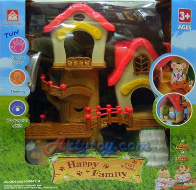 บ้านตุ๊กตาหรรษา Happy Family (ZTUN) ชุด บ้านต้นไม้แสนสนุก