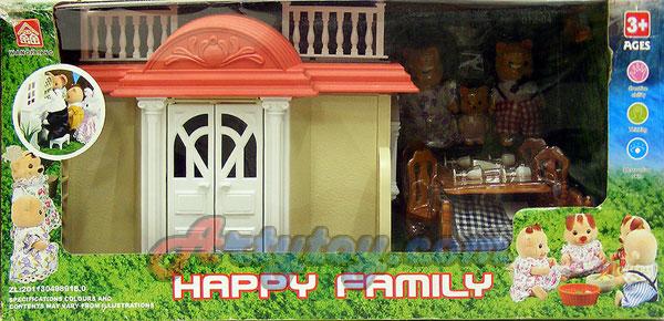 บ้านตุ๊กตาหรรษา Happy Family (JTN) ชุด บ้านแสนสุข 1 ชั้น