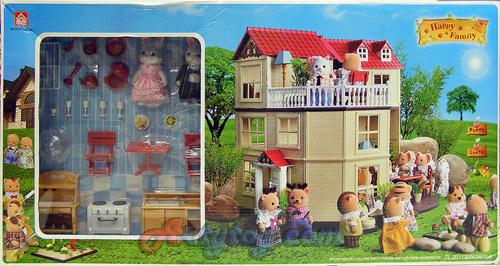 บ้านตุ๊กตาหรรษา Happy Family (ZETN) ชุด บ้านแสนสุข 3 ชั้น