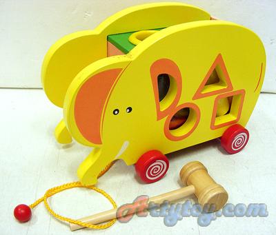 ของเล่นไม้ รูปช้างน้อย (FTN) พร้อมบล๊อคไม้หลากสีสำหรับฝึกพัฒนาการของคุณหนูๆ