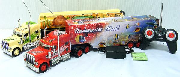 รถหัวลากตู้คอนเทนเนอร์บังคับวิทยุไร้สาย Super Truck (ITN) แบตเตอรี่ชาร์ตไฟบ้าน