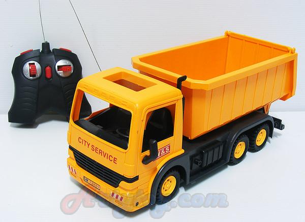 รถบรรทุกดัมพ์ Shop Truck(INB) บังคับวิทยุไร้สาย แบตชาร์ต ยกกะบะท้ายเทได้เหมือนจริง