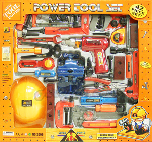 Power Tool Set (INB) ชุดเครื่องมือช่างชุดใหญ่ อุปกรณ์ครบชุด 42 ชิ้น  สามารถเล่นได้เหมือนจริง