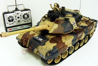 รถถังบังคับ German Leopard2 Scale 1:20 (FNTN) งานสวยสมจริง ยิงกระสุนได้ มีไฟ แบตชาร์ตไฟบ้าน
