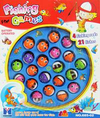 Fishing Game (FBN) มีปลาให้ตกเล่นได้ 21 ตัว  มีไฟมีเสียงเวลาเล่น