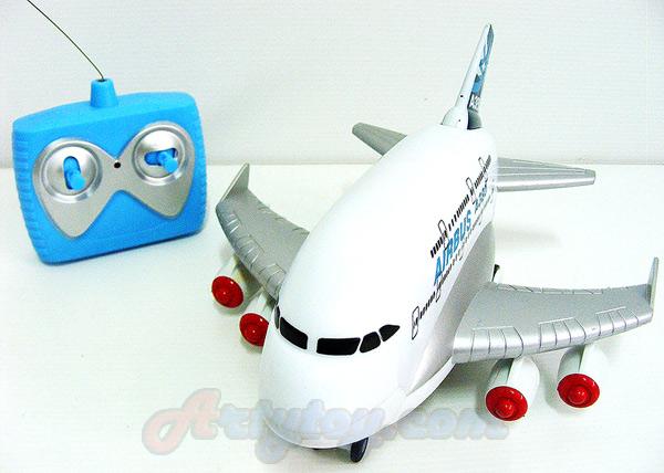 เครื่องบิน Airbus บังคับสำหรับเล่นกับพื้น (UBT)  มีไฟ มีเสียงเวลาเล่น