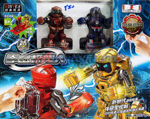 Battle Robot แพ็คคู่ (TIN) หุ่นยนต์ชกมวยไร้สายแห่งอนาคต ระบบ 2.4GHz ที่น่าเล่นที่สุด  สนุกมากๆ