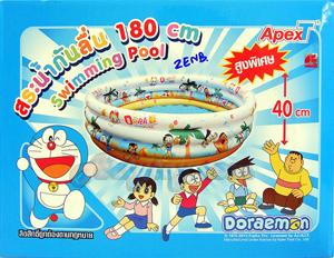 สระน้ำเป่าลม Doraemon ขนาด 6 ฟุต สูง 40 ซม.(ZENB) มีพื้นกันลื่น สินค้าลิขสิทธิ์แท้จาก Apex Toy