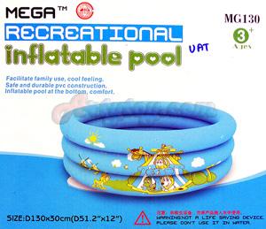 สระน้ำเป่าลม MG130(ZUAT) ขนาด 130ซม. x 30ซม. ผลิตจาก วัสดุ PVC คุณภาพสูง แข็งแรง ปลอดภัย
