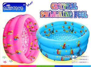 สระน้ำเป่าลม Crystal Swimming Pool (ULN) ขนาด 130 ซม. มีพื้นนูนกันกระแทก