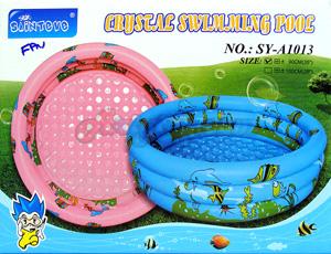 สระน้ำเป่าลม Crystal Swimming Pool (FPN) ขนาด 90 ซม.  มีพื้นนูนกันกระแทก