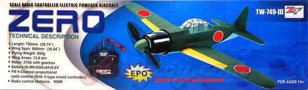 เครื่องบินบังคับ Mitsubishi A6M Zero 4CH EPO 2.4GHz  TW-749-III (UTBN)