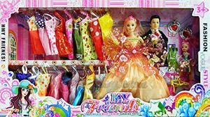 My Friends(UNB) ตุ๊กตาบาร์บี้ชุดใหญ่ มีตุ๊กตา 3 ตัว พร้อมชุดให้เปลี่ยนเล่นมากมาย กว่า 15 ชุด