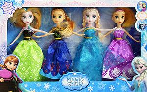 Magic Snow(ZFTB) ตุ๊กตาบาร์บี้ Frozen  มีตุ๊กตา 4 ตัว