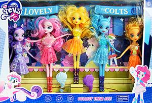 Lovely Colts (ZFTN) บาร์บี้ม้า Pony สุดน่ารัก 5 ตัว เล่นแต่งผม เปลี่ยนชุดได้