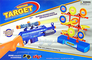 Target Shooting (JEN) ปืนลูกซองติดกล้องยิงกระสุนโฟม พร้อมเป้าคะแนน  อุปกรณ์ให้ครบชุด