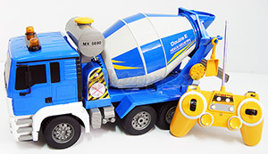 Double-E Concrete Mixer (MAJT) รถโม่ปูนบังคับวิทยุไร้สาย แบตชาร์ต ถังโม่หมุนได้ มีไฟมีเสียง