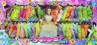 Sweet Girl (UIT) ตุ๊กตาบาร์บี้ชุดใหญ่ มีตุ๊กตาบาร์บี้แสนสวย 1 ตัว พร้อมชุดให้เปลี่ยนเล่นมากมาย กว่า