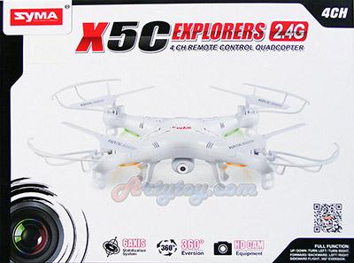 X5C (MFUNB) คอปเตอร์ 4 ใบพัด 2.4GHz ติดกล้อง ลำกลางๆ เล่นง่าย บินนิ่ง สู้ลมได้ดี ตีลังกาได้ 360 องศา