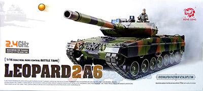 รถถังบังคับ Leopard2A6 Scale1:16(JUNB) 2.4GHz มีควัน มีเสียงเครื่องยนต์ ยิงกระสุนได้