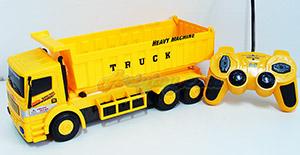 รถบรรทุกดัมพ์ Super Truck Dump (UIN) บังคับวิทยุไร้สาย มีไฟ ยกกะบะท้ายเทได้เหมือนจริง
