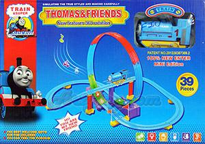 ชุดหัวรถไฟ Thomas เหาะตีลังกา 39 ชิ้น (FTN) มีไฟมีเสียงดนตรีเวลาเล่น