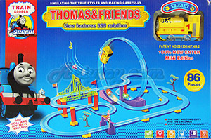 ชุดหัวรถไฟ Thomas เหาะตีลังกา 86 ชิ้น (UBT) มีไฟมีเสียงดนตรีเวลาเล่น