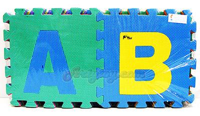 แผ่นโฟมปูพื้น ABC (FTN) ขนาด 30x30 ซม. จำนวน 26 แผ่น หลากสี