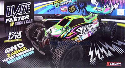 Blaze Faster (JIUN) Buggy ไฟฟ้า 4WD RTR Scale 1:10 แรงเร็วดุดัน  ไม่กลัวน้ำ  อึดสุดๆ พร้อมเล่น