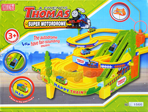 ชุดหัวรถไฟ Thomas วิ่งราง รุ่น1566  (MUFN) มีไฟมีเสียงดนตรีเวลาเล่น