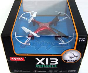 Syma X13 Miracle (MTNB) 2.4GHz โดรน 4 ใบพัดลำเล็ก เล่นง่าย บินนิ่ง ตีลังกาได้ 360 องศา