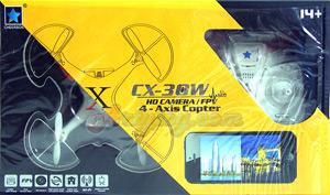 Cheerson CX-30W FPV(MFPTN) โดรน 4 ใบพัดกันน้ำ 2.4GHz ติดกล้อง  Realtime สามารถดูภาพสดๆผ่านมือถือ